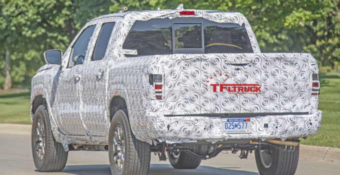 2021 nissan frontier spied axle exhaust The Fast Lane Truck