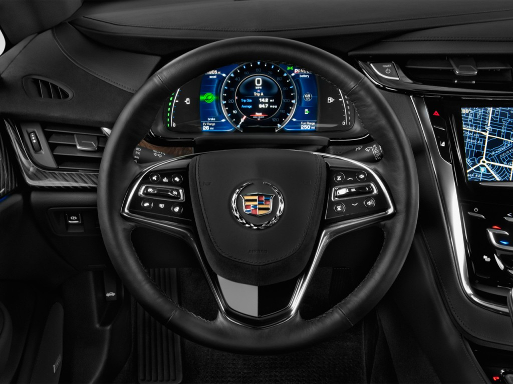 Image 2014 Cadillac ELR 2 door Coupe Steering Wheel Size
